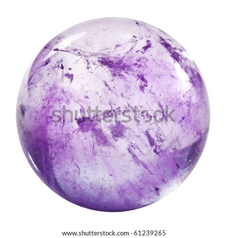 amethyst sphere isolated