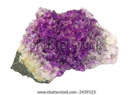 amethyst violet - stock photo