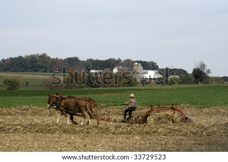 Amish Country Scene - stock photo