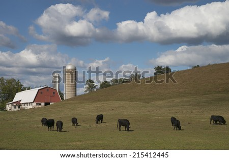 Amish Farm in Lancaster County, Pennsylvania - stock photo