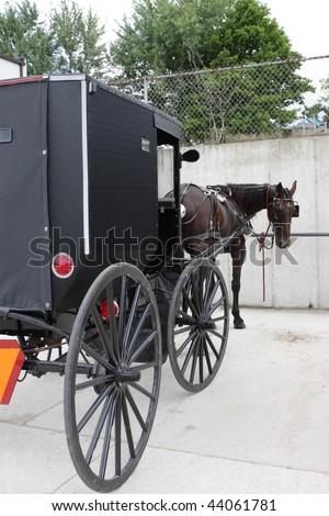 Amish transportation - stock photo