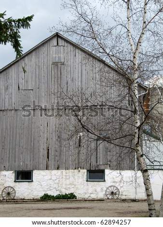 Amish wooden barn in Perth county Ontario