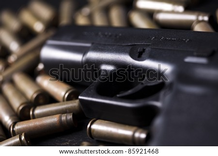 Ammunition and automatic handgun