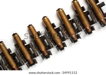 Ammunition isolated on white
