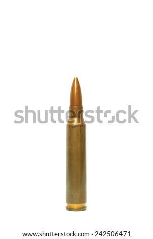 ammunition on white background - stock photo