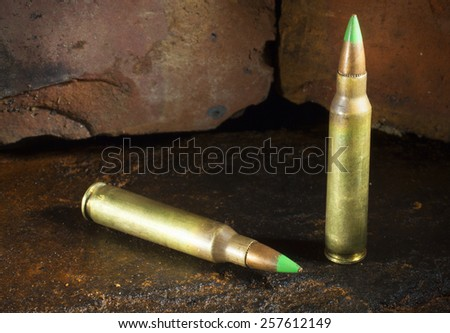 Ammunition that may be banned in the United States - stock photo