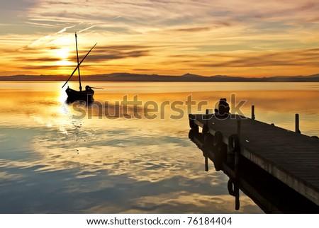 amor en el lago - stock photo