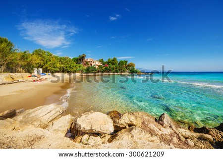 Amoudi beach, Zakynthos island, Greece - stock photo