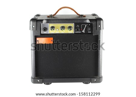Amp guitar - stock photo