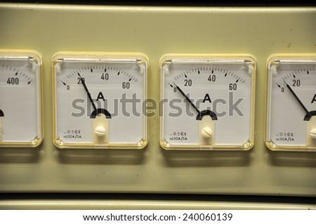 Ampere meter - stock photo