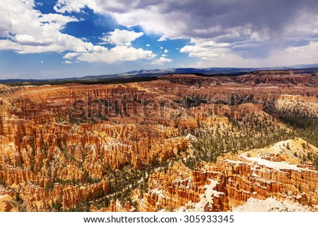 Amphitheater Hoodoos Inspiration Point Bryce Canyon National Park Utah