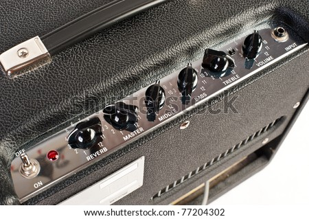 amplifier control panel - stock photo