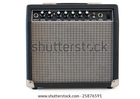 Amplifier isolated on a white - stock photo