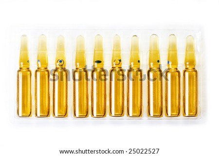 ampoules in the pack - stock photo