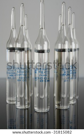Ampoules with sodium chloride