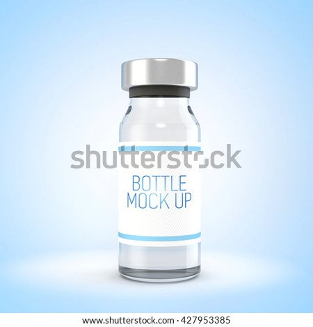 Ampules mock up isolated. 3d illustration - stock photo