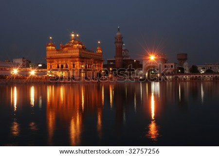 Amritsar Golden Temple night view