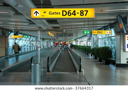 Amsterdam Airport Schiphol - stock photo