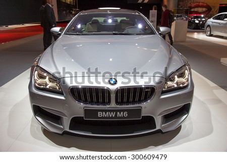 AMSTERDAM - APRIL 16, 2015: BMW M6 on display at the AutoRAI 2015.