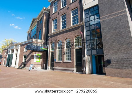 Amsterdam-April 30: The Joods Historisch Museum on April 30,2015, the Netherlands.  Jewish Historical Museum is a museum in Amsterdam dedicated to Jewish history, culture and religion. - stock photo