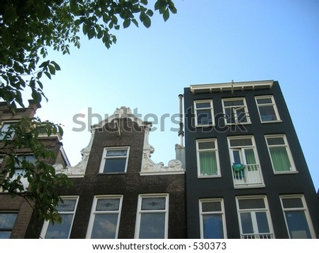 Amsterdam architecture - stock photo