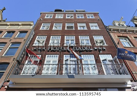House View Dutch Beautiful Old Facades Stock Photo