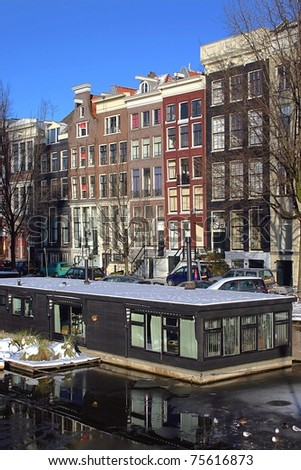 Amsterdam canal - stock photo