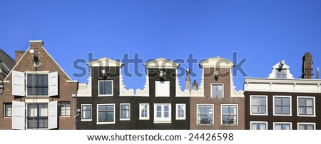 Amsterdam houses - stock photo