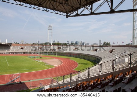 AMSTERDAM - JULY 10: Amsterdam hosted the summer Olympic Games of 1928 - stock photo