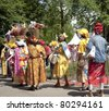 AMSTERDAM - JULY 1: The Surinamese community celebrates the abolition of slavery in former Dutch colonies during the annual Keti Koti ('cut chain') festival, July 1, 2011 in Amsterdam, The Netherlands - stock photo
