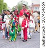AMSTERDAM-JULY 1:Unidentified Surinamese community celebrates abolition of slavery in former Dutch colonies during the annual Keti Koti ('cut chain') festival July 1, 2012 in Amsterdam,The Netherlands - stock photo