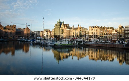 AMSTERDAM, NEDERLAND - May 12: City Center on May 12, 2015 in Amsterdam.