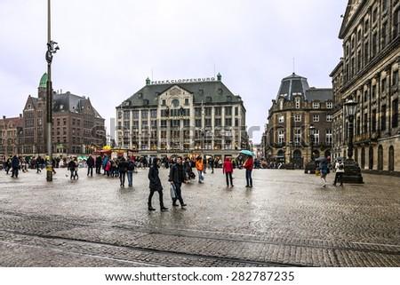Amsterdam, Netherlands, Dam Square  - stock photo