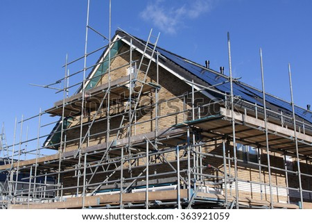 Amsterdam, Netherlands-januari 14, 2016: house building  at a location vinex in Amsterdam