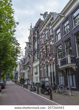 Amsterdam, Netherlands, on July 7, 2014. Typical urban view