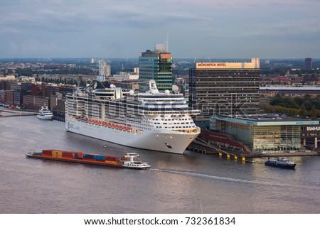 Amsterdam Netherlands September Msc Stock Photo - Amsterdam cruise ship