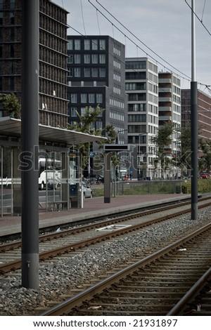 amsterdam rails - stock photo