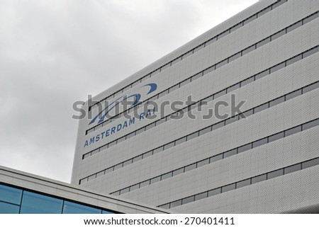 AMSTERDAM, THE NETHERLANDS, 17 APRIL 2015 - Amsterdam RAI, one of the largest exhibition centers in The Netherlands and home to the AutoRAI. - stock photo