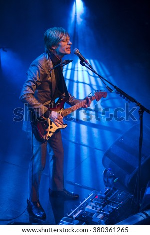 Amsterdam, The Netherlands - 21 february, 2016: concert of English psychedelic rock band Kula Shaker for their album release K 2.0 at Paradiso concert hall