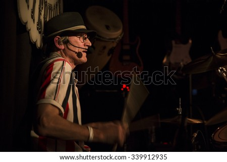 Amsterdam, The Netherlands - October, 17 2015: concert of British indie-pop rock singer Emily Capell during Amsterdam Waterfall Festival at the Waterhole - stock photo