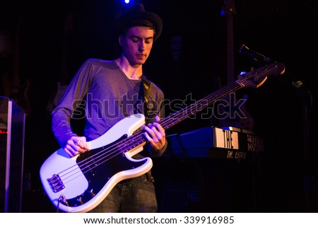 Amsterdam, The Netherlands - October, 17 2015: concert of Dutch rock band The Estate during Amsterdam Waterfall Festival at the Waterhole - stock photo