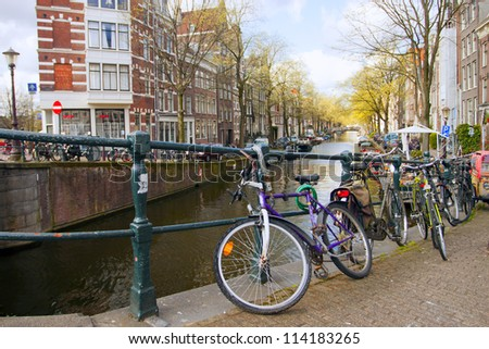 Amsterdam. Typical city landscape