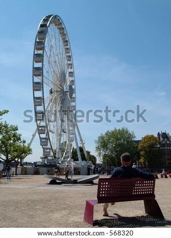 Amsterdam Wheel - stock photo