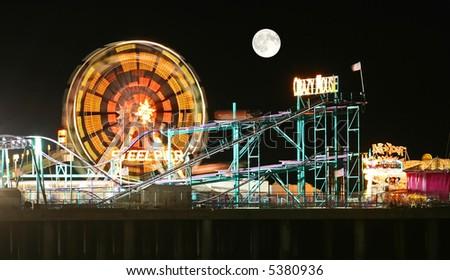 Amuesment Park at Steel Pier Atlantic City, NJ - stock photo