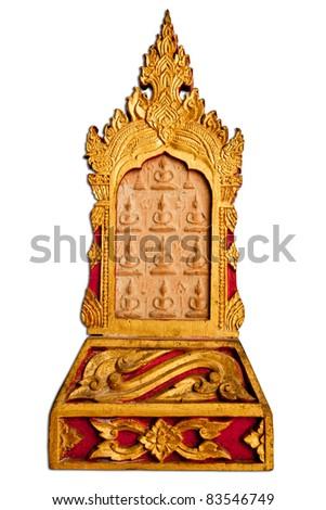 amulet buddha - stock photo
