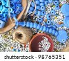 amulet making accessories close up - stock photo