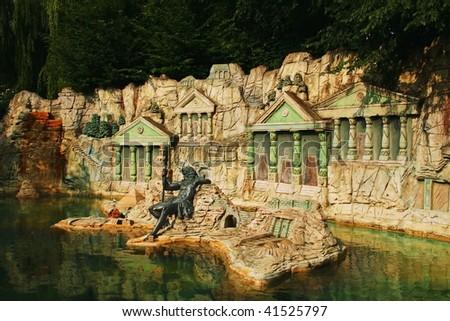 amusement park - stock photo