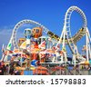 Amusement park rides - stock