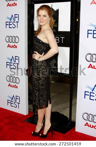 Amy Adams at the AFI FEST 2008 Opening Night Film Premiere Of 'Doubt' held at the Grauman's Chinese Theater in Hollywood on November 30, 2008.  - stock photo