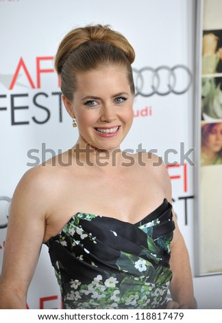 "Amy Adams at the AFI Fest premiere of her movie ""On The Road"" at Grauman's Chinese Theatre, Hollywood. November 3, 2012  Los Angeles, CA Picture: Paul Smith"